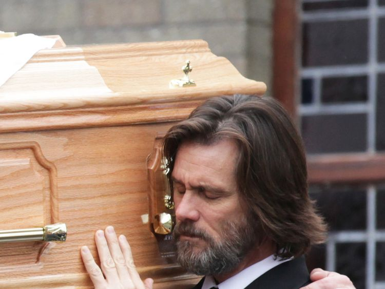 The comedian helped carry his ex-girlfriend's coffin