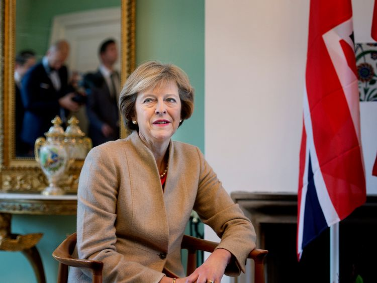 Theresa May in Copenhagen for discussion with the Danish counterpart