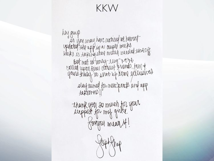 Kim Kardashian's letter