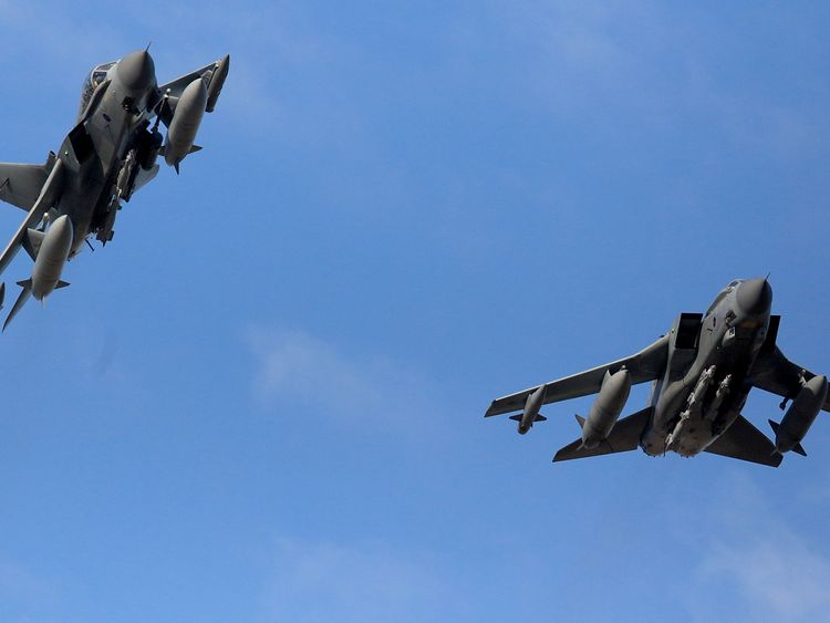 RAF Tornados return to RAF Akrotiri after a sortie on December 3, 2015 in Akrotiri, Cyprus. The British Parilament voted 397 to 223 yesterday in favor of joining international airstrikes in Syria.