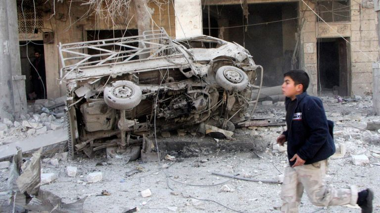 The first barrel bombs were dropped on Aleppo in December 2013
