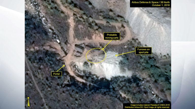 Nuclear site in North Korea. Pic: 38 North