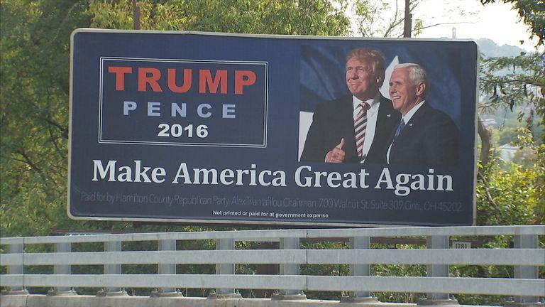 Pro-Trump billboard in Ohio