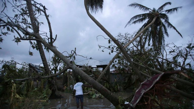 Haiti was lashed by 145mph winds