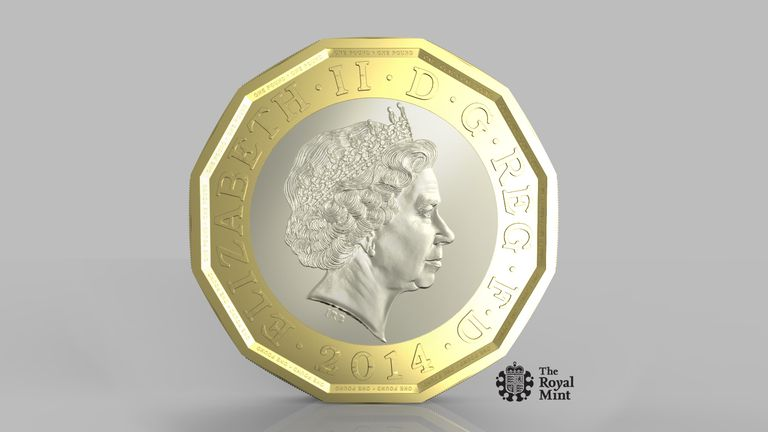 The new 12-sided pound coin will enter circulation in March 2017