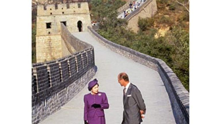 "1986: On a visit to China, Philip joked to British students: ""If you stay here much longer, you'll go slit-eyed."""