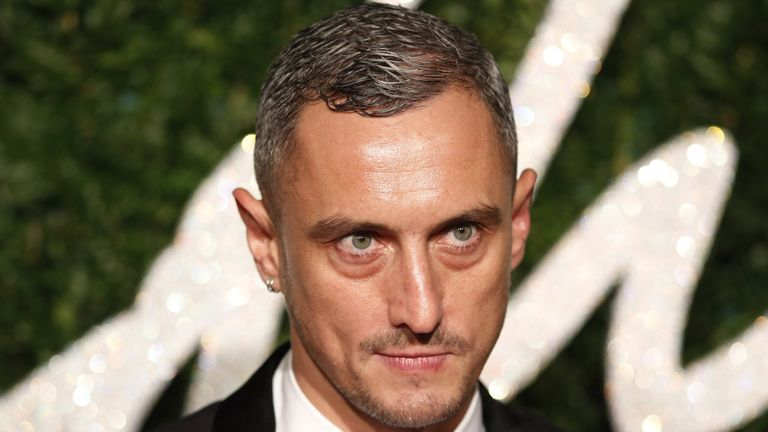 British fashion designer Richard Nicoll