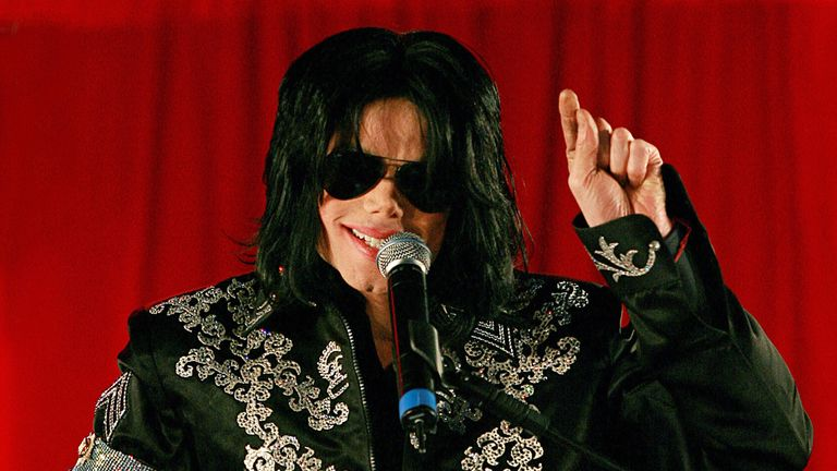 Michael Jackson addressing a press conference at the O2 arena in London in March, 2009