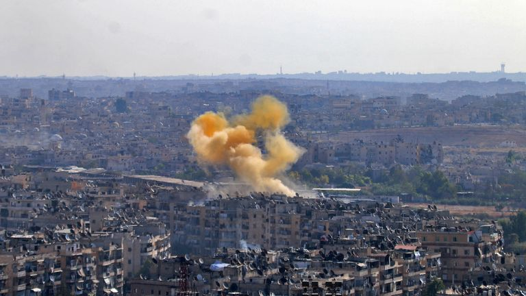 Aleppo has been under bombardment for months