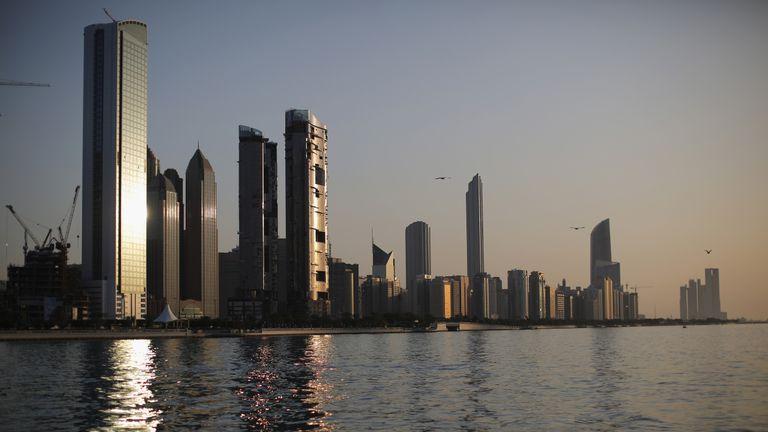 The Abu Dhabi skyline