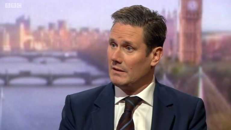 Keir Starmer on the Andrew Marr show