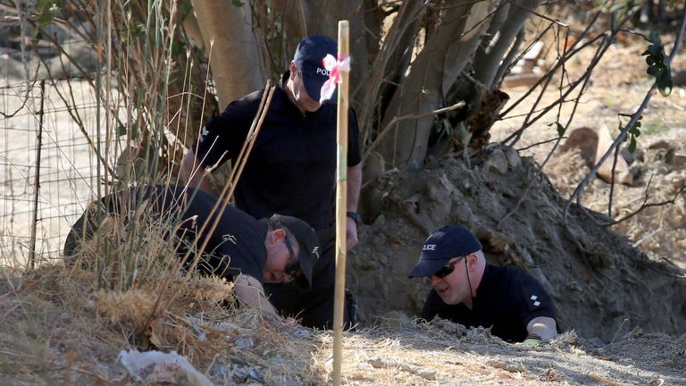 Officers from South Yorkshire Police have led the excavations