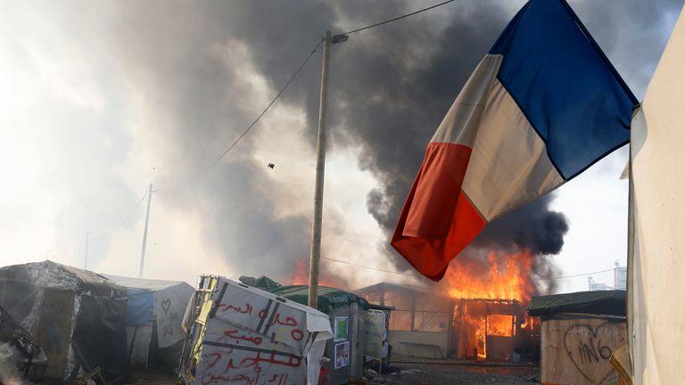 Calais fire
