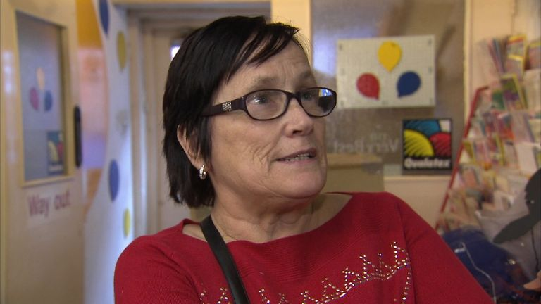 Delcia Haskett, whose granddaughters were scared by a 'killer clown' believed to be carrying a chainsaw in Walsall