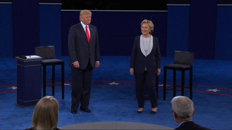 Donald Trump and Hillary Clinton enter the debate