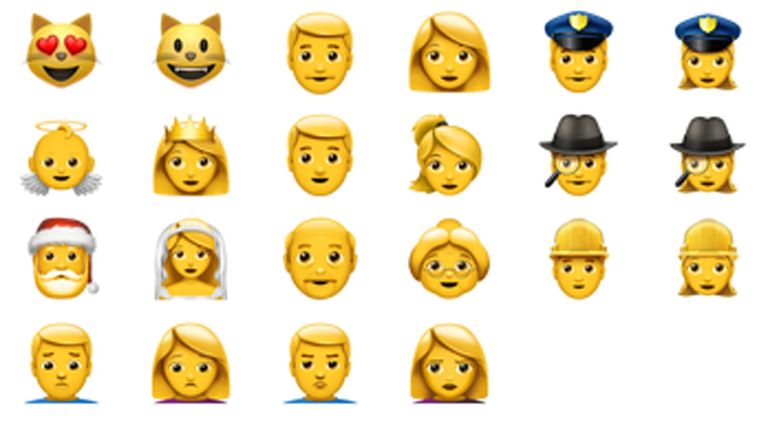 Some of the new emojis that are available with iOS 10