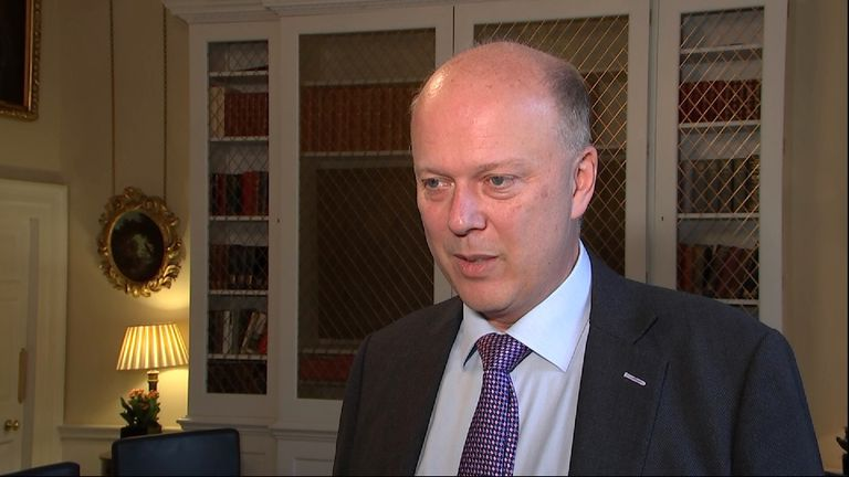 Secretary of State for Transport Chris Grayling defends Heathrow third runway decision