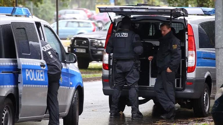 Police raided an apartment in the eastern city of Chemnitz