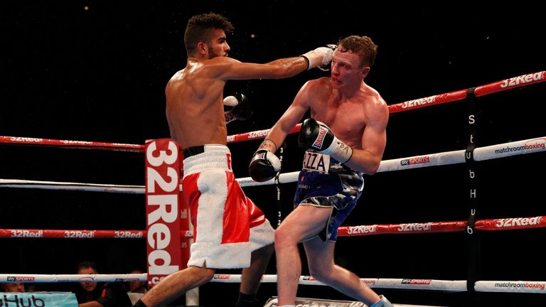 Britain Boxing - Tom Farrell v Farid Hakimi - Liverpool Echo Arena - 15/10/16 Tom Farrell in action with Farid Hakimi Action Images via Reuters / Lee Smith