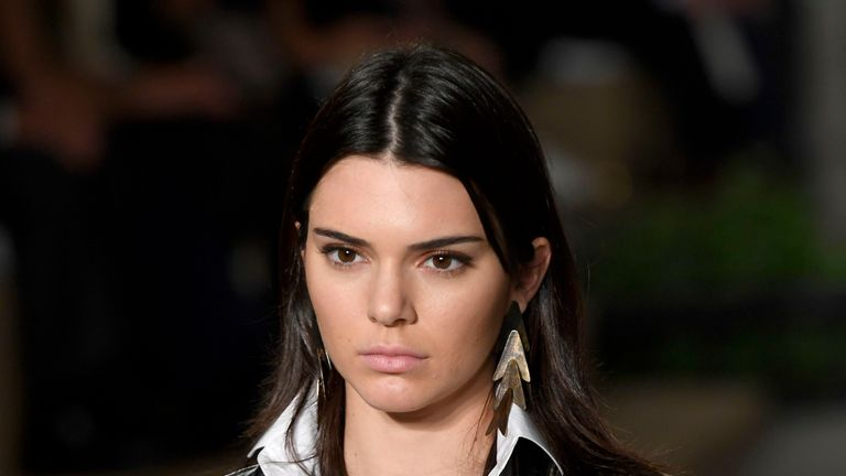 Kendall Jenner at the Ralph Lauren fashion show during New York Fashion Week in September