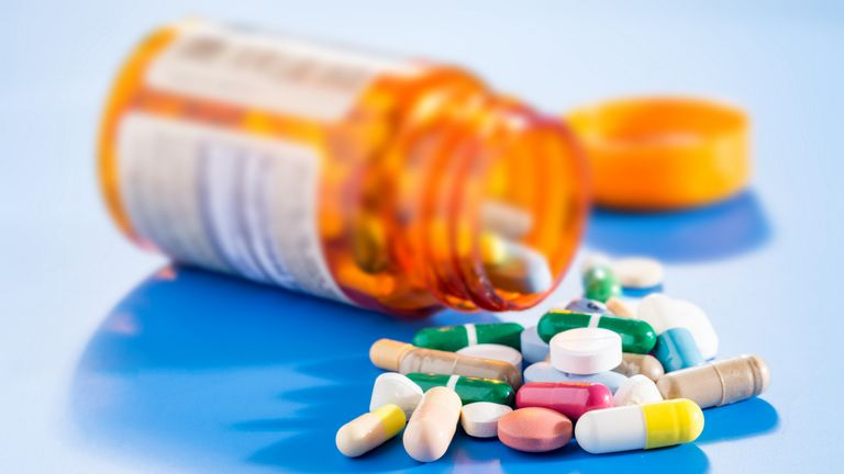 Generic istock pic of pills/ capsules/ tablets in bottle. For generic medicine pic.