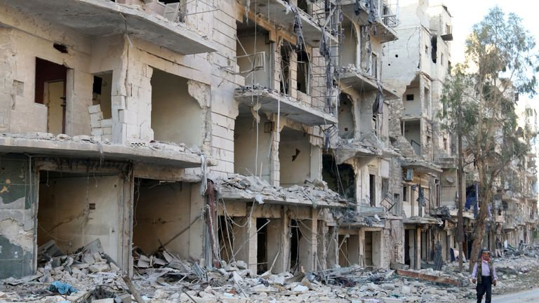 Large parts of Aleppo have been destroyed in the bombardment