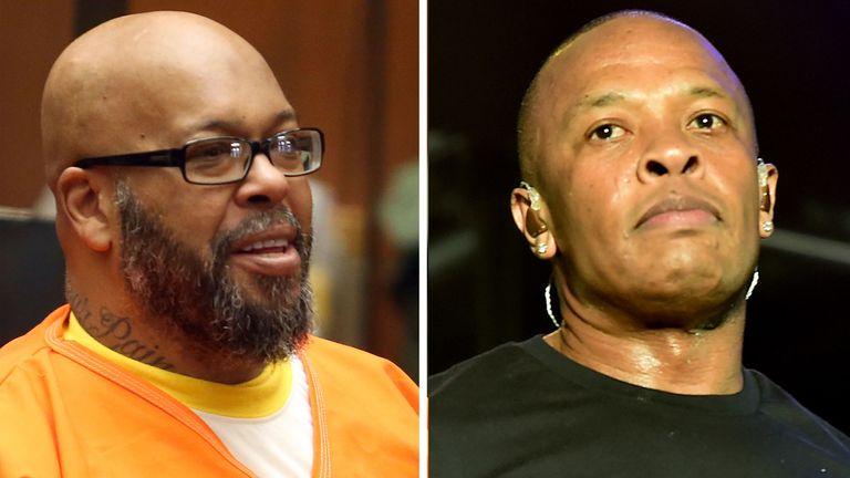 Former gangsta rap mogul Marion 'Suge' Knight and hip-hop star Dr. Dre