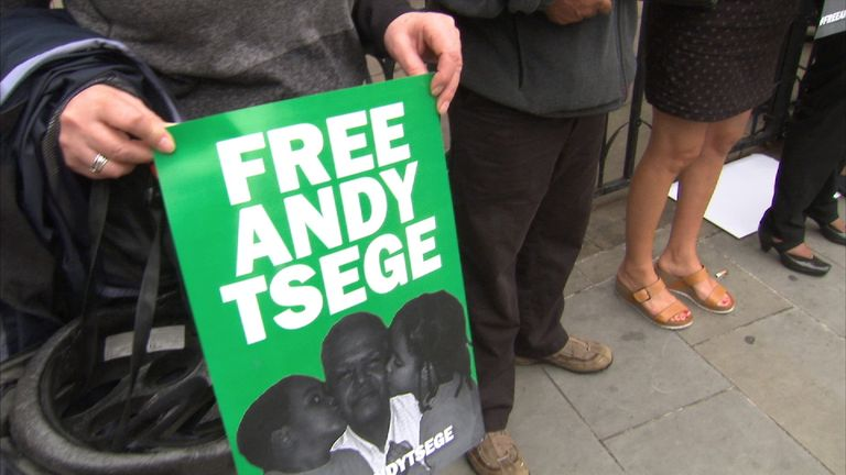 Campaigners have called for the release of the Briton held in Ethiopia