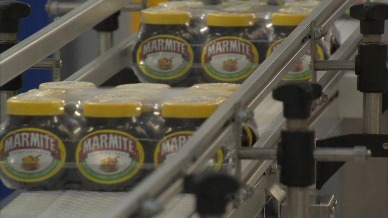 A marmite production line