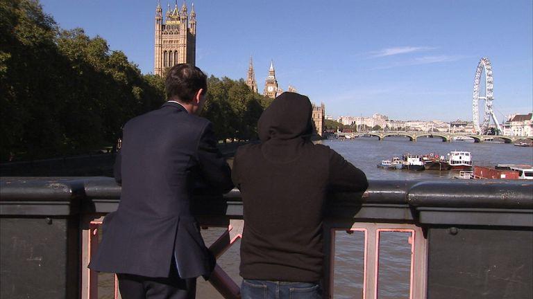 Alistair Bunkall and 'Tom Marcus' ex-MI5 agent