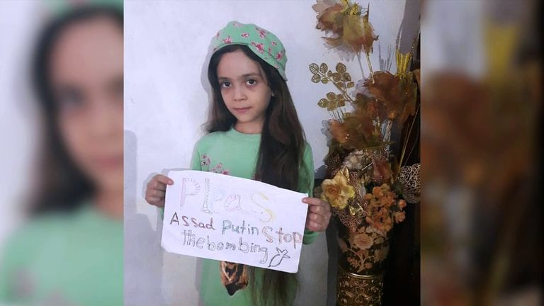 Seven-year-old Bana Alabed posts online her videos of life in Aleppo
