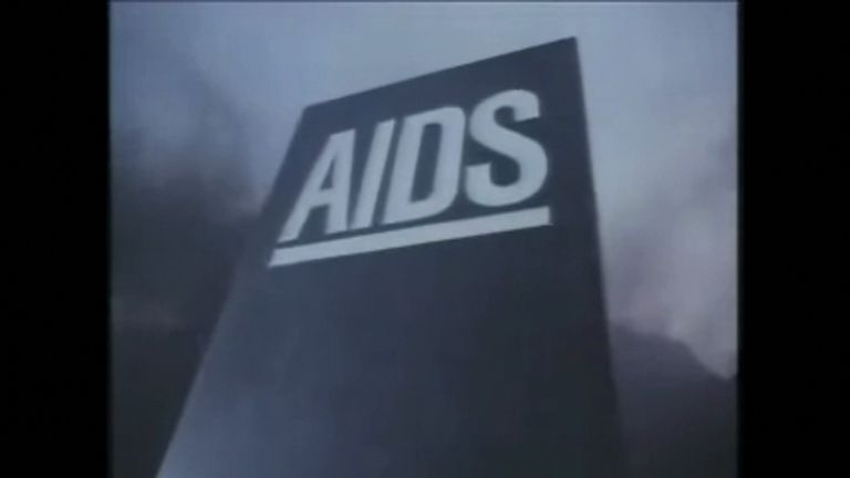 The 1980s Aids awareness advert shocked viewers
