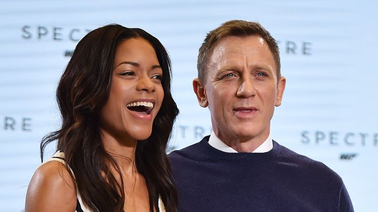 Harris and Craig during an event to launch the 24th James Bond film 'Spectre'