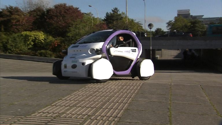Tom Parmenter in a driverless car