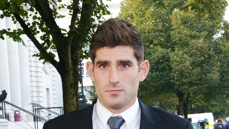 Footballer Ched Evans leaves Cardiff Crown Court