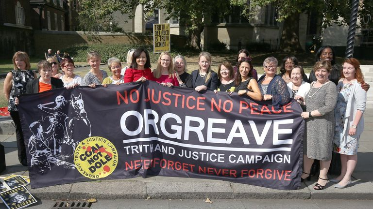 MPs and campaigners attend a rally for the Orgreave Truth and Justice Campaign