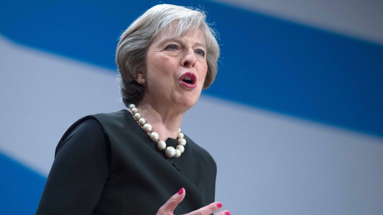 """Mrs May said the country would negotiate its exit as """"one United Kingdom"""""""