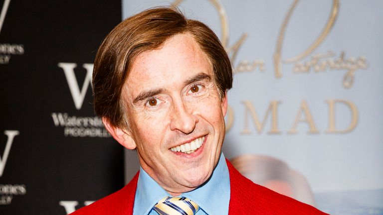 Steve Coogan as his comic character Alan Partridge signs copies of his book, Alan Partridge - Nomad, at Waterstones, Piccadilly