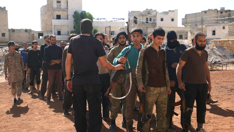 Members of the former Nusra front are taking part in  the offensive