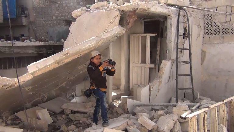 Al Halabi films in Aleppo