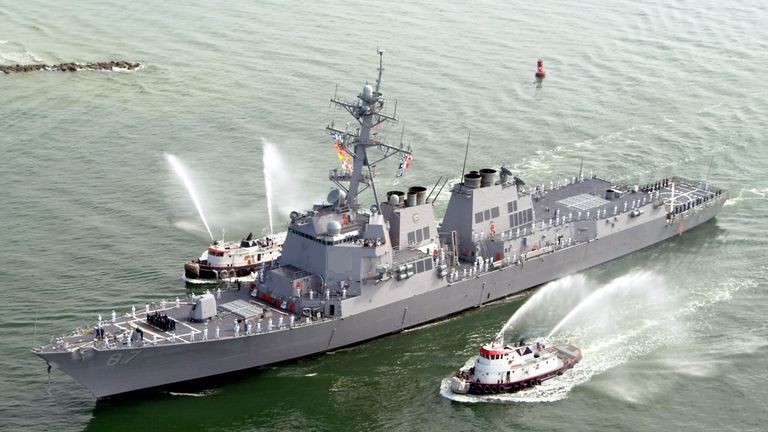 The USS Mason (DDG 87), a guided missile destroyer. File photo.