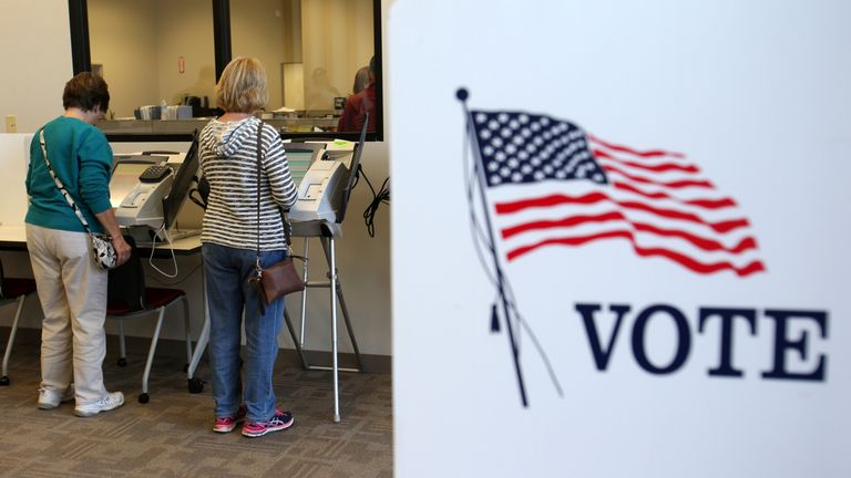 Early absentee voting in Medina, Cleveland, Ohio, ahead of the presidential election