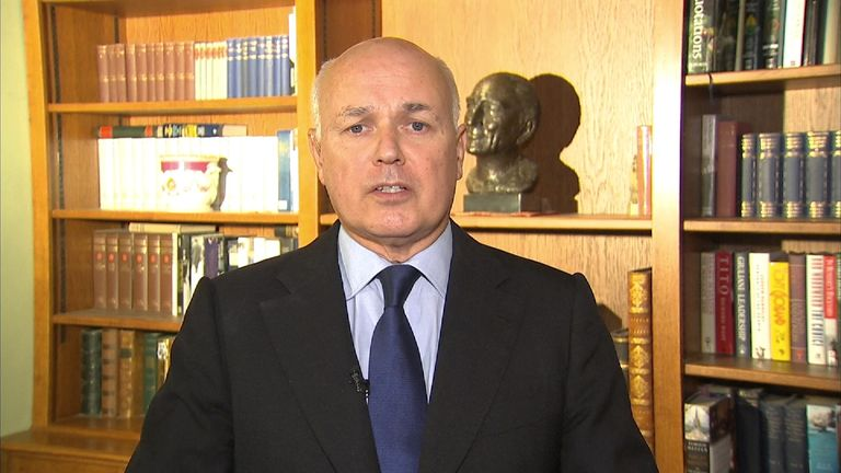 Former Work and Pensions Secretary Iain Duncan Smith MP