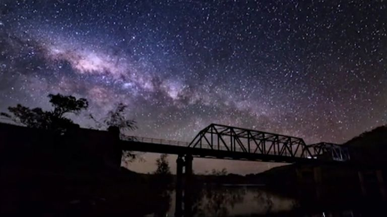 Milky Way viewed from Canberra