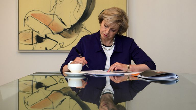 Theresa May prepares for her first conference speech as Prime Minister