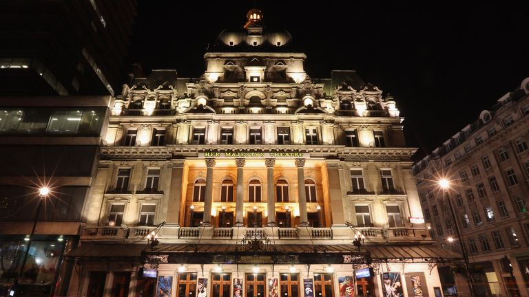 The show is being performed at Her Majesty's Theatre in London's Haymarket