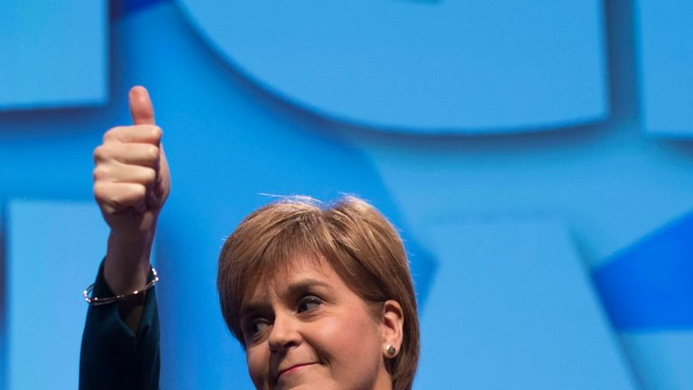 First Minister of Scotland and the leader of the Scottish National Party Nicola Sturgeon