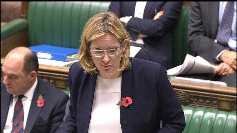 Amber Rudd addressing The Commons