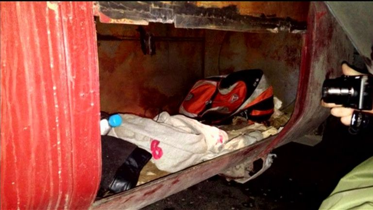 The space a migrant was expected to travel in during a people smuggling operations in Slovakia