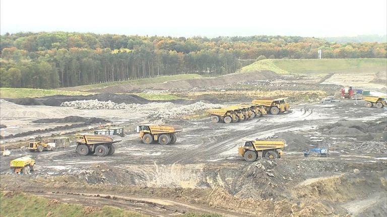 Coal mining in the United Kingdom. Shotton.